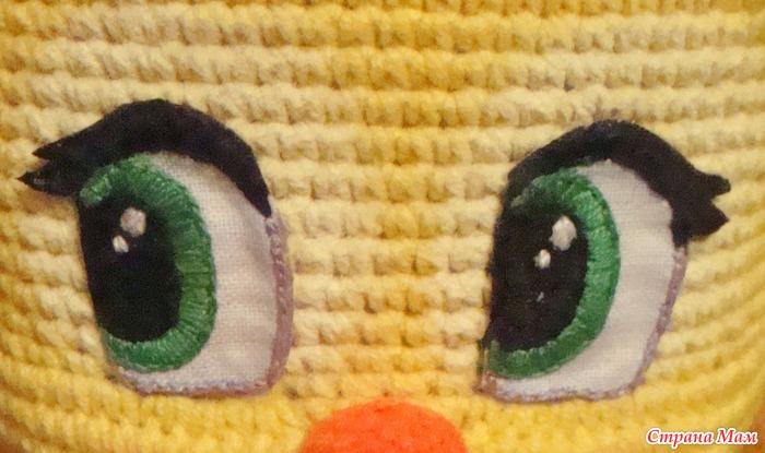 мастер класс вышиваем глазки для вязаных игрушек игрушки своими