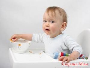 Питание детей после года - учимся самостоятельности