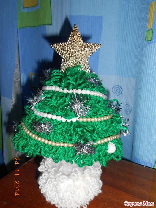 *Новогодняя елочка - Вязание для детей - Страна Мам