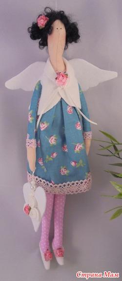 Интерьерная кукла  АнгелТильда, Ручная работа