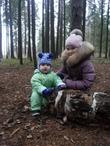 с любимой младшей тётушкой♥хорошо в лесу осенью♥