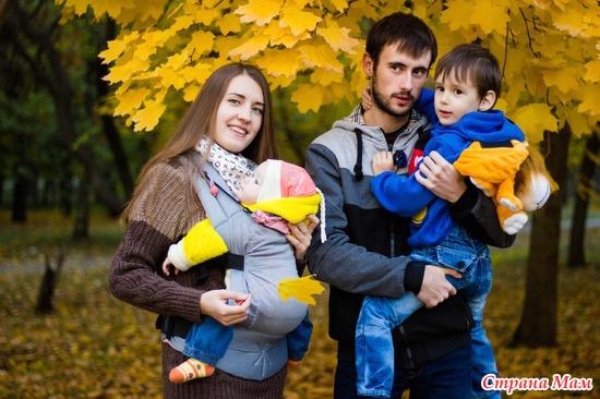 Наша маленькая семейка на прогулке =))