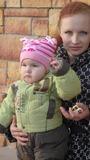 с мамой )))