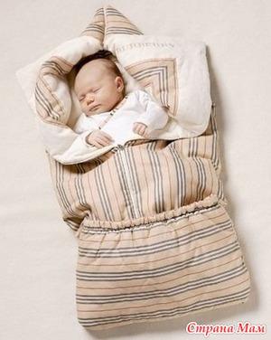 Одеяло трансформер для новорожденного  (выкройка)