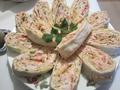 Рулет с крабовым салатом