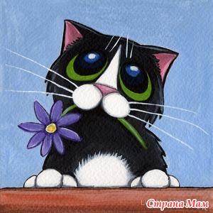 Причудливый Art Cat английской художницы Лизы Мэри Робинсон