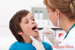 Лечение красноты горла у детей