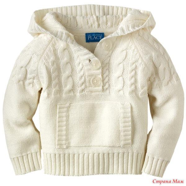 вяжем детский пуловер с капюшоном он лайн дополнено 708 вяжем