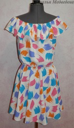 Платье на резинке на плечах сшить 237
