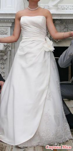 Элегантное свадебное платье со шлейфом Mon Cheri