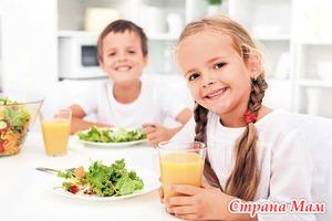 Питание дошкольников и школьников