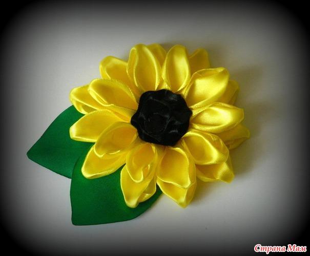 Цветы из атласной ленты. Роза. Мастер класс 95