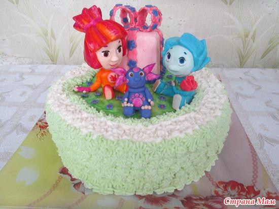Торт на день рождения дочери приятельницы