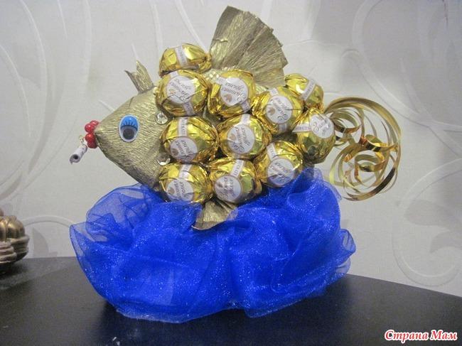 стихи к подарку золотая рыбка из денег винтовка