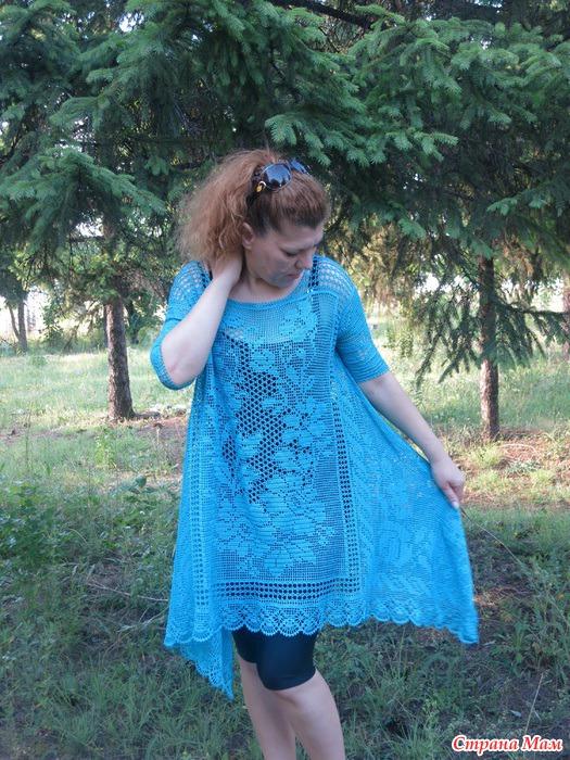 Страна мам вязание туники бохо