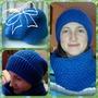 Васильковая шапка-бини и снуд (2)