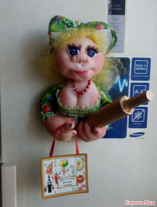 Куколки магниты на холодильник своими руками