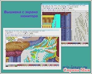 *Программа Pattern Maker v4 Pro — вышивка в экрана монитора
