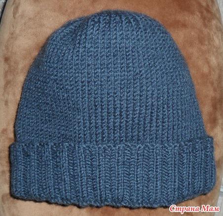 шапка мужская теплая двойная вязание страна мам