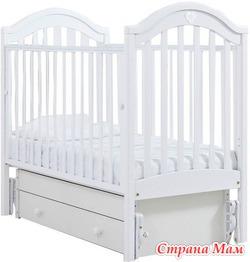 """Продаю новую детскую кроватку-качалку """"Софи"""" (гандылян, универсальный маятник) цвет белый"""