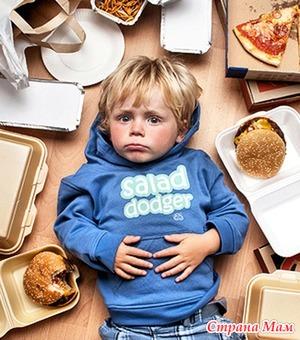 Группы вредных продуктов для детей.