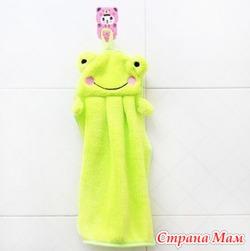 """Детские полотенца для рук """"Зеленый лягушонок"""""""