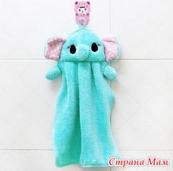 """Детские полотенца для рук """"Синий слоненок"""""""