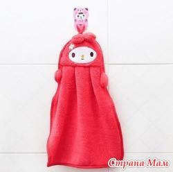 """Детские полотенца для рук """"Красная кукла"""""""