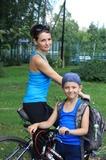 Дочь и внук - велосипедисты.