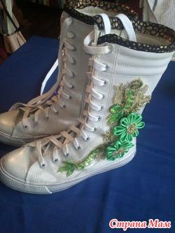обувь Белые кожаные ботиночки 38 размер