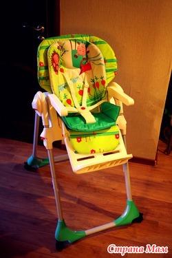 Детский стульчик Chicco Polly с 4-мя колесами