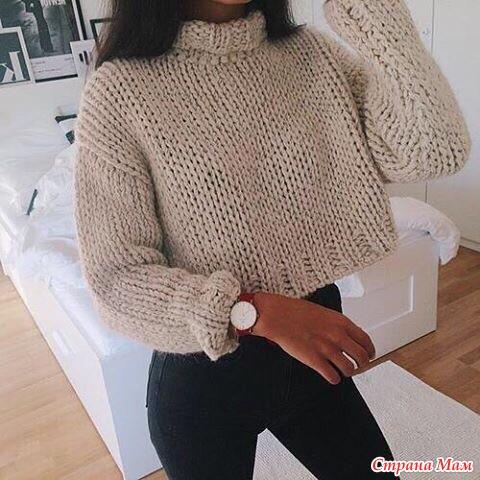 Схема свитера крупной вязкой фото 859