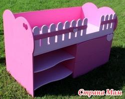 Детская кровать для девочки. Новая.