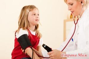Особенности давления у детей.
