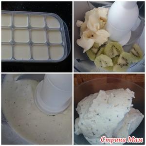 Фруктовое мороженое МК (без яиц из 3х продуктов)