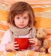 Проявления детских простуд.