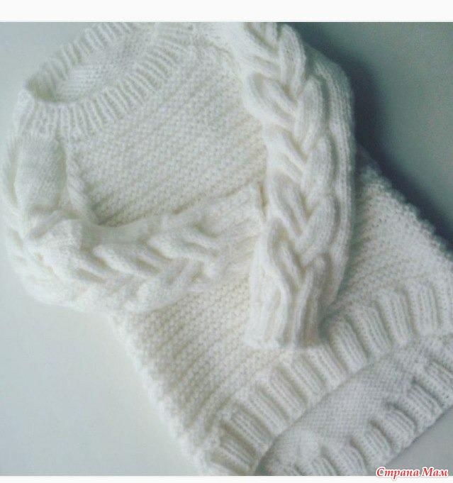 Красивый свитер для девочки - Вязание для детей - Страна Мам