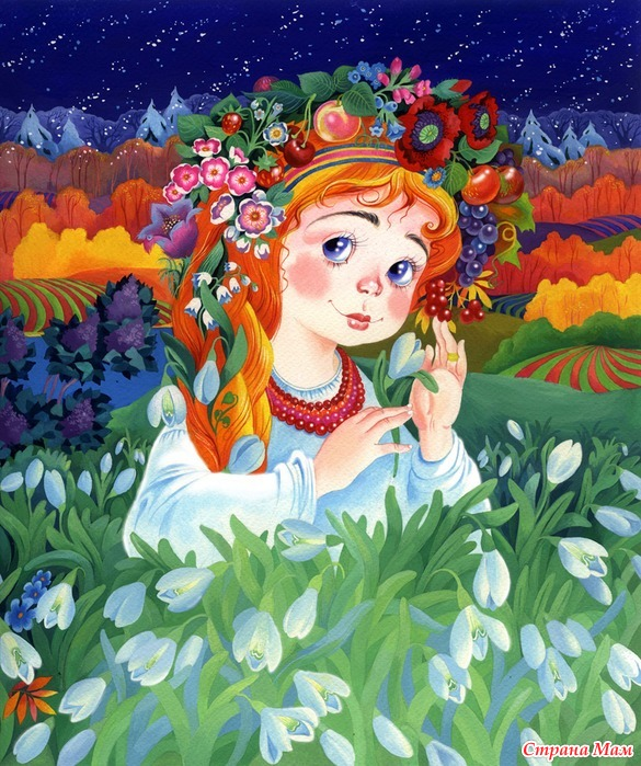 Детские картинки женщина весна