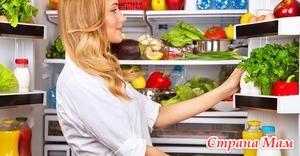 Выбор емкостей для хранения продуктов.