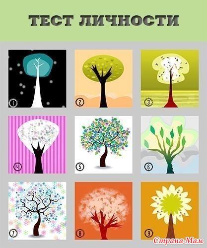 вдруг, психологический тест деревья с картинками екатерининский парк для