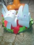 Пасхальные кролики. работа 4 летней девочки