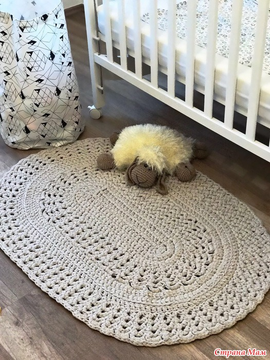 коврики вязаные крючком страна мам