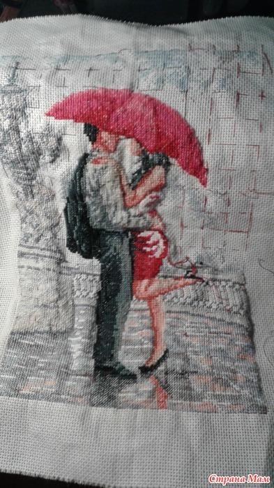 Вышивка в объятиях дождя 589