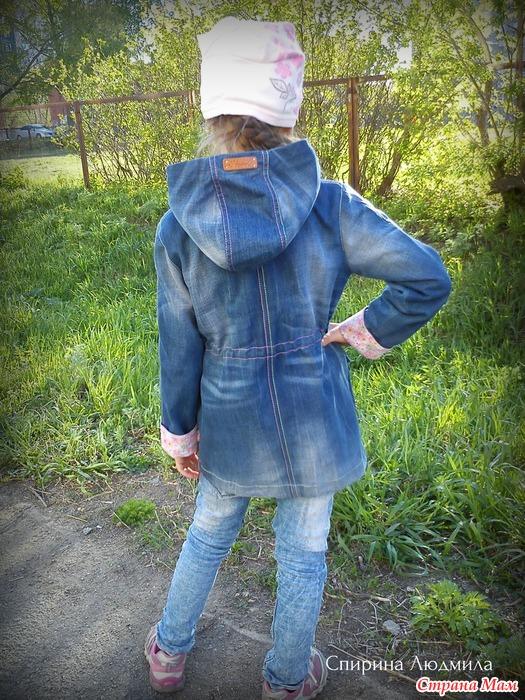 Парка из старых джинс