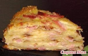 """. """"Сырный пирог с ветчиной"""""""