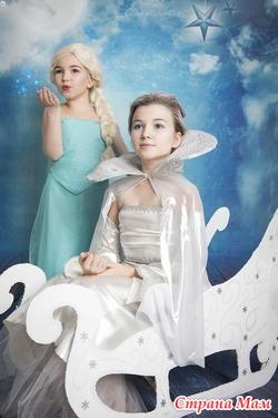 Детская фотосессия Эльза, Снежная Королева, Эльф