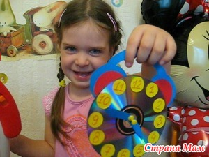 Часы будильник из CD диска. Поделки в детский сад и школу
