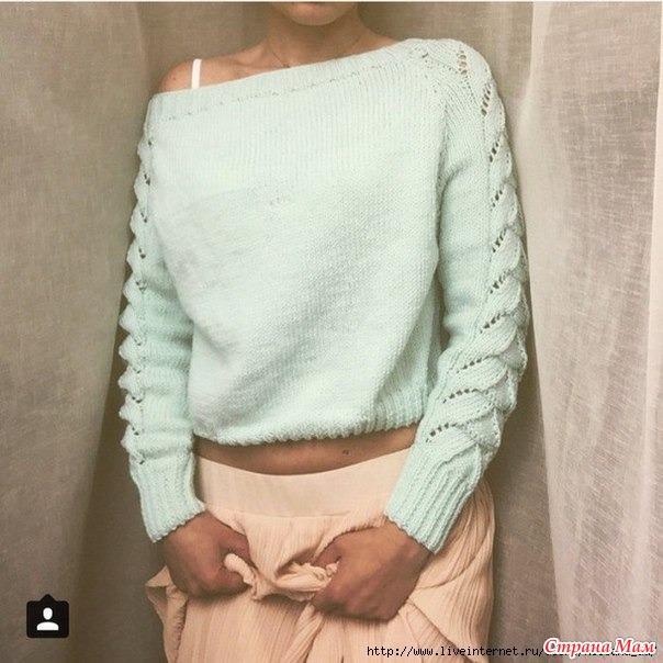 схема вязания кофты спицами узор на рукаве страна мам