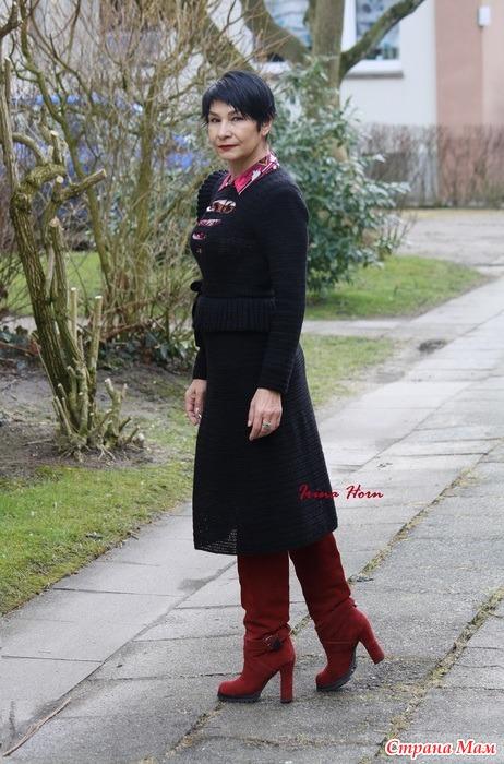 Платье с асимметричной баской  с поясом