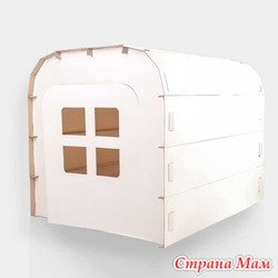 Игровой домик-палатка из картона